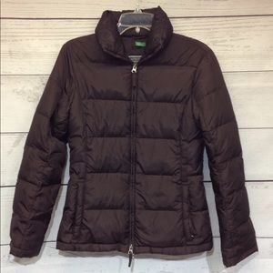 Benetton Women's Brown Puffer Coat Size XS